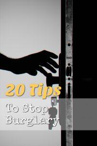 tips to stop burglary